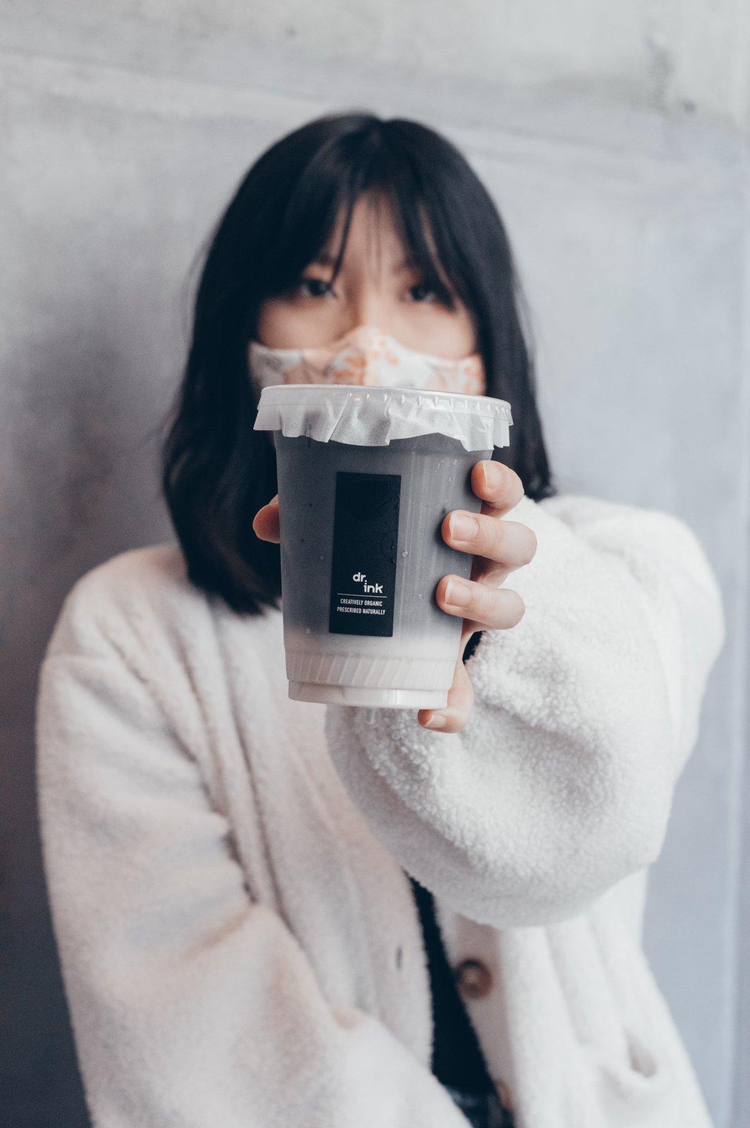 Dr.ink black nougat latte portrait with girl