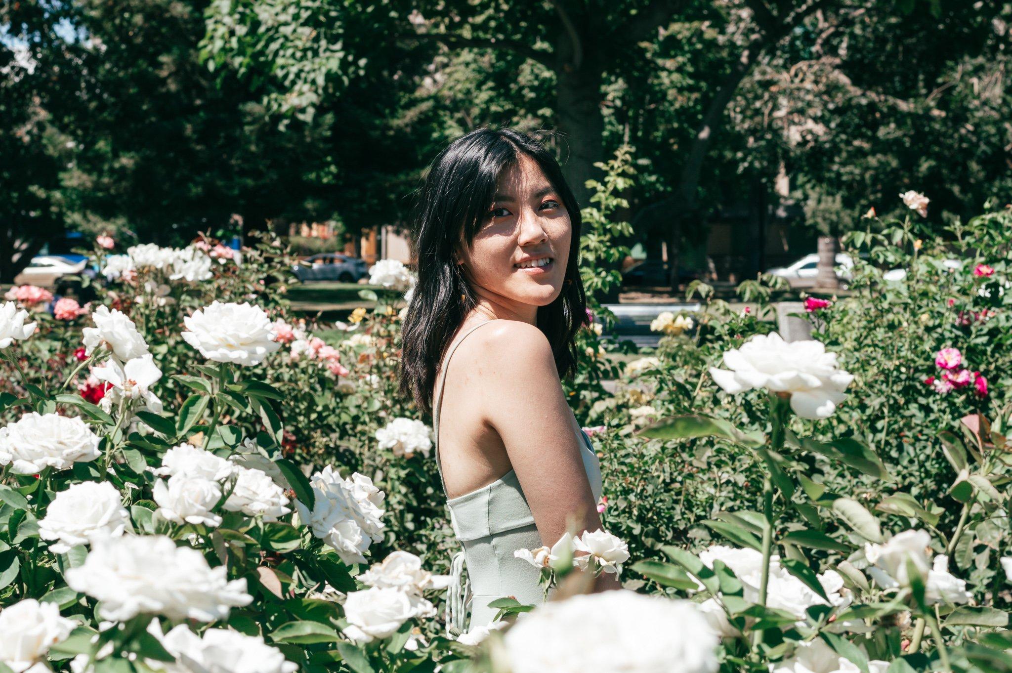 Rose garden portrait